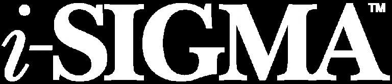 White i-Sigma logo